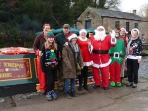 Voluntees at Birdswood - Team Santa