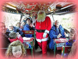 Father Christmas visits Cromford Canal